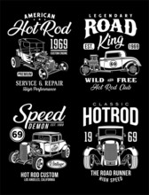 Vintage Hot Rod Graphic T-shir...