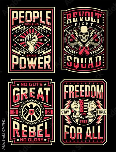 Carta da parati Vintage Propaganda T-shirt Designs Collection