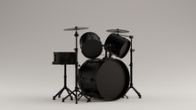 Black Drum Kit 3d Illustration...