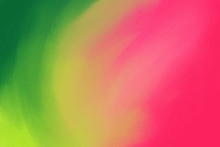 Abstract Background Watermelon Color - From Rich Green To Pink. Soft Gradient Color Transition. Acrylic Brush Strokes. Summer Fruit Concept. Fresh Fashionable Colors, A Contrasting Combination.