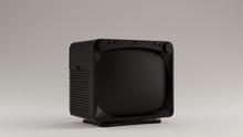 Black Vintage Square TV Televi...