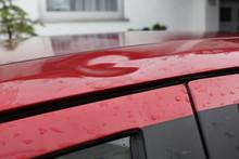 Hail Damage At Car