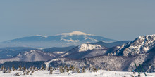 View To Babia Hora From Martinske Hole In Winter Mala Fatra Mountains In Slovakia