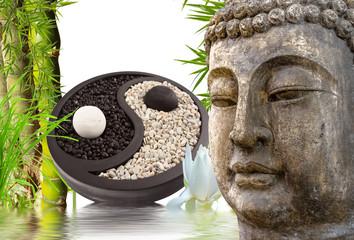 Fototapeta Bambus Bouddha zen