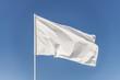 White flag against the blue sky