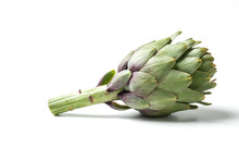 "Artichokes - Green Artichoke ""Carciofo"" On White Background"