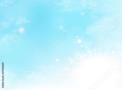 Foto auf Leinwand Pool Abstract summer sunny day clouds weather background. illustration vector eps10