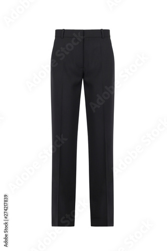 Photo Front views of black men trousers