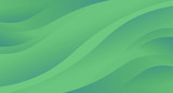 Green abstract background wave