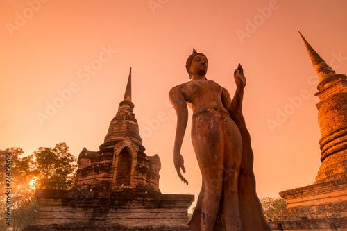 Obraz na plátně  ASIA THAILAND SUKHOTHAI WAT SA SI TEMPLE