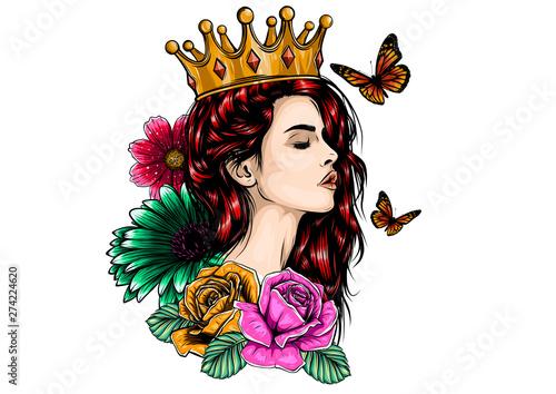 Fotografia Beautiful girl in crown