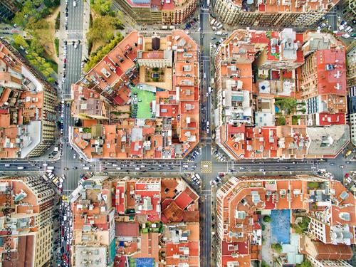 Foto auf Gartenposter Barcelona Barcelona aerial photo