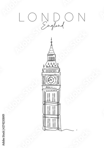Poster UK Big Ben Canvas Print