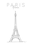 Fototapeta Fototapety z wieżą Eiffla - Poster paris eiffel tower