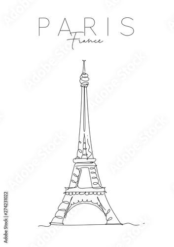 Obraz Poster paris eiffel tower - fototapety do salonu