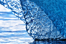 Detail Of Blue Glacial Ice At ...
