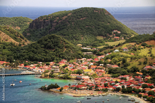Terre de haut from Le Chameau, Les Saintes Island Antillas Wallpaper Mural