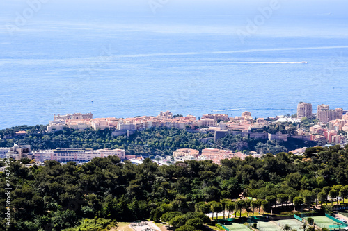 Aerial view of Menton town ...