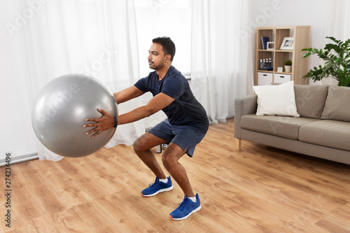 fitness, sport and healthy lifestyle concept - indian man