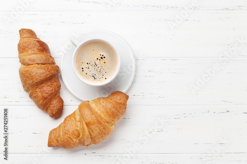 Slika na platnu Coffee and croissant