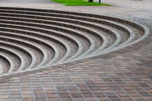 半円形の階段