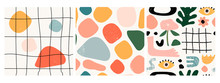 Set Of Three Seamless Patterns...