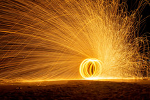 Amazing Fire Show On The Beach...