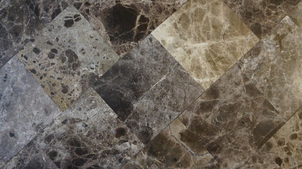 Marble stone diamond Pattern with different stone colors