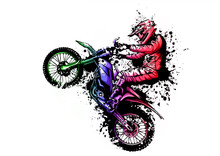 Motocross Rider Ride The Motoc...