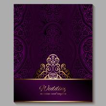Wedding Invitation Card With G...