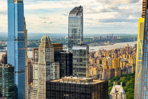 Canvas Prints New York Upper West Side and Central Park of New York cityscape view from rooftop Rockefeller Center