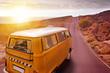 canvas print picture - mit dem Wohnmobil in den Urlaub