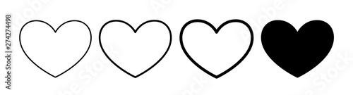 Fotografia  Heart sign concept element for internet shop design, apps, web design