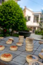 Chinese Chess Board In Garden