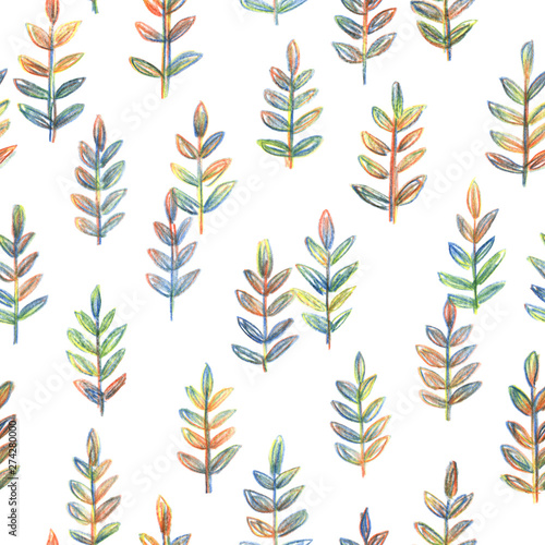 Photo  Decorative background with hand drawn branches