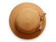 canvas print picture - Round women's straw hat