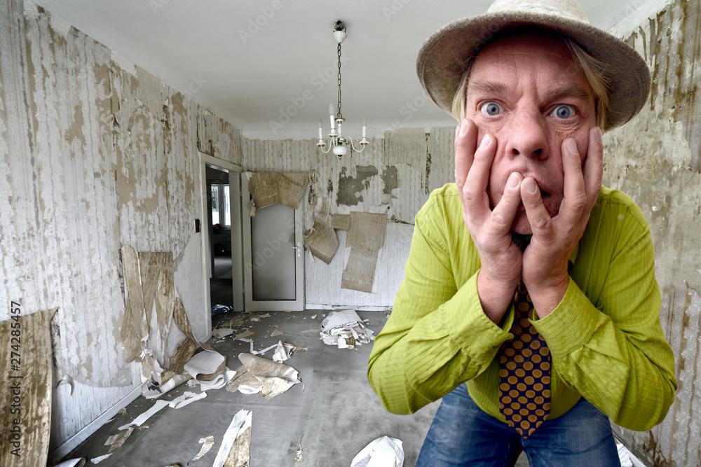 Fototapety, obrazy: schock für den Vermieter