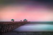 Long Exposure Of Folly Beach P...