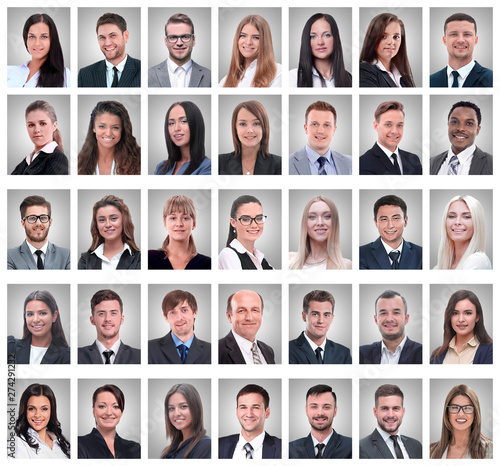 collage of portraits of successful young businessmen - 274291232