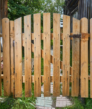 Wooden Gate Closed On A Bolt F...