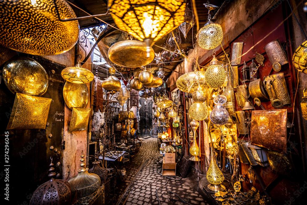 Fototapety, obrazy: Souk Marrakech