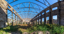 Old Abandoned Industrial Factory In Ukraine
