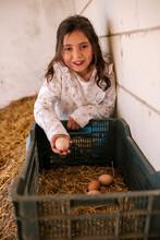 Little Girl Is Taking Some Egg...
