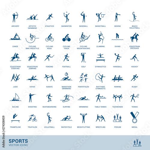 Pinturas sobre lienzo  Sports disciplines icons