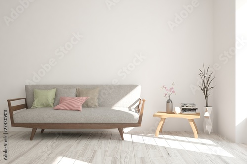 Fotografía  white room with sofa