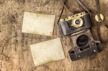 Vintage Film Camera Old Photos Still Life