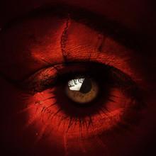 Closeup Of Terrify Demon Eye Composite Photo