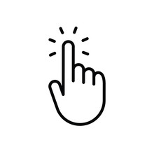 Hand Clicking Icon. Vector Pointer Finger Click.