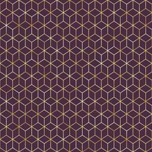 Art Deco Seamless Pattern - Repeating Metallic Pattern Design With Art Deco Motif