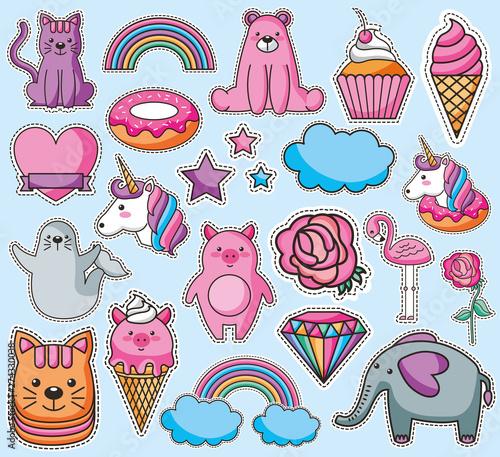 Photo  bundle of emojis kawaii characters